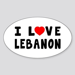 I Love Lebanon Sticker (Oval)