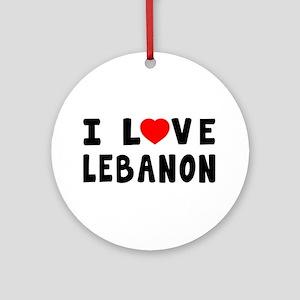 I Love Lebanon Ornament (Round)