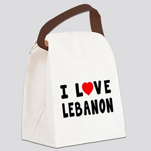 I Love Lebanon Canvas Lunch Bag