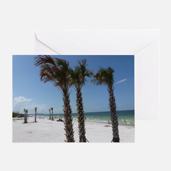 Ft. Fort Myers Beach Florida Palm Tr Greeting Card