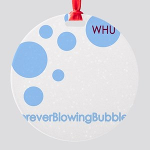 Forever Blowing Bubbles Round Ornament