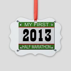 My First 1/2 Marathon - 2013 Picture Ornament