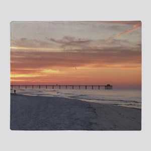 Ft. Fort Walton Beach Pier Florida S Throw Blanket