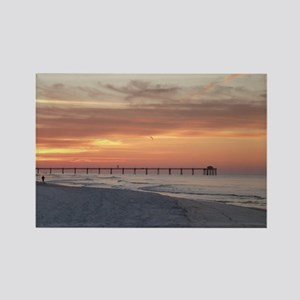 Ft. Fort Walton Beach Pier Florid Rectangle Magnet