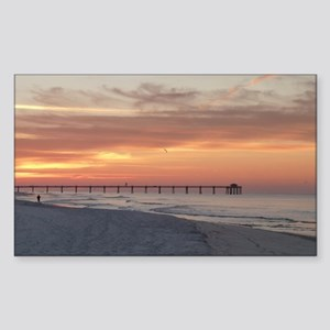 Ft. Fort Walton Beach Pier Flo Sticker (Rectangle)