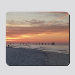 Ft. Fort Walton Beach Pier Florida Sunri Mousepad