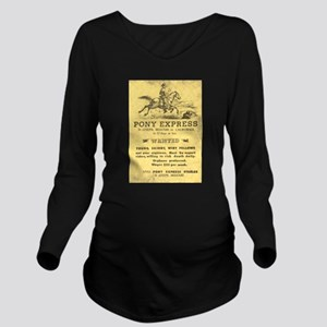 Pony Express Poster Long Sleeve Maternity T-Shirt