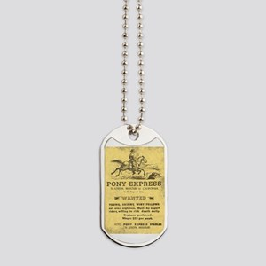 Pony Express Poster Dog Tags