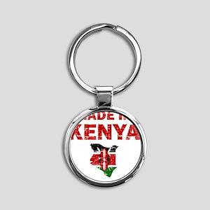 kenya Round Keychain