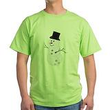 Snowman bowling Green T-Shirt
