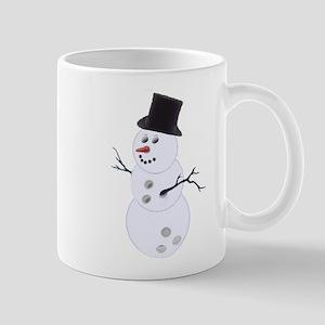 Bowling Christmas Snowman Mug