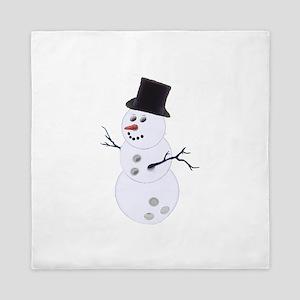 Bowling Christmas Snowman Queen Duvet