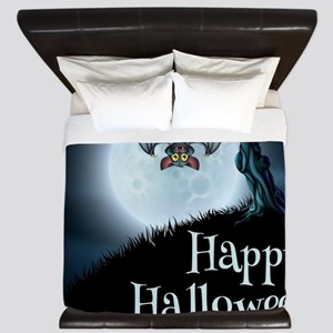 Happy Halloween Little Vampire Bat King Duvet