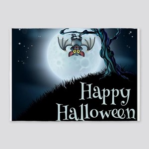 Happy Halloween Little Vampire Bat 5'x7'Area Rug