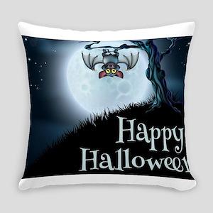 Happy Halloween Little Vampire Bat Everyday Pillow