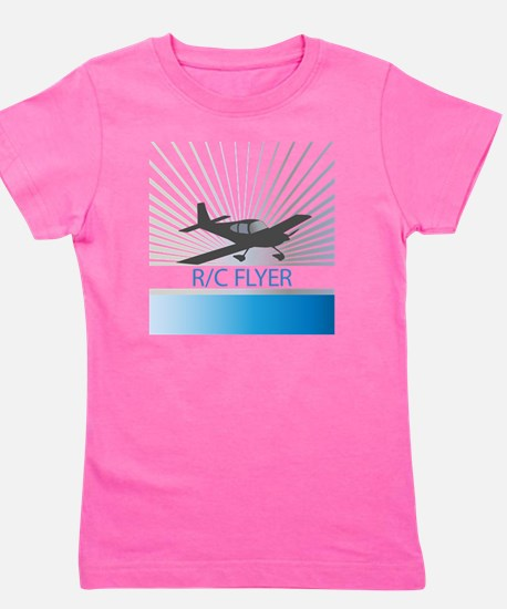 RC Flyer Low Wing Airplane Girl's Tee