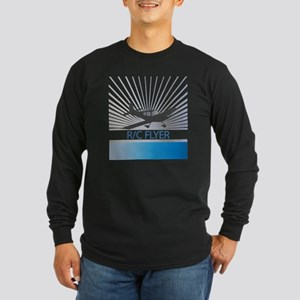 RC Flyer Low Wing Airplan Long Sleeve Dark T-Shirt