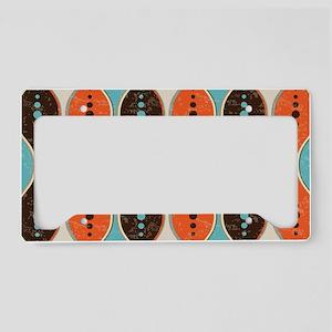 Seamless retro style pattern License Plate Holder