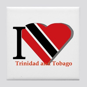 I love Trinidad & Tobago Tile Coaster