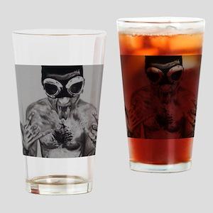 Goggled Warrior Drinking Glass
