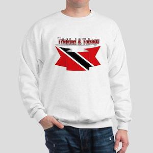 Trinidad flag ribbon Sweatshirt