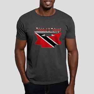 Trinidad flag ribbon Dark T-Shirt