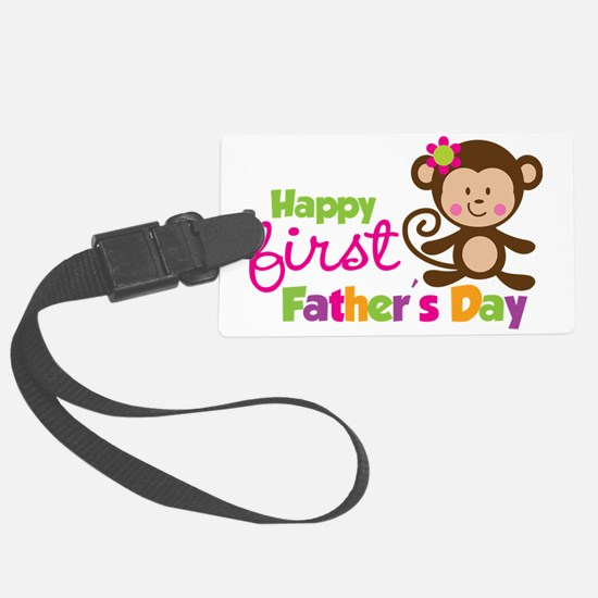 MonkeyGirl1stFathersDay Luggage Tag