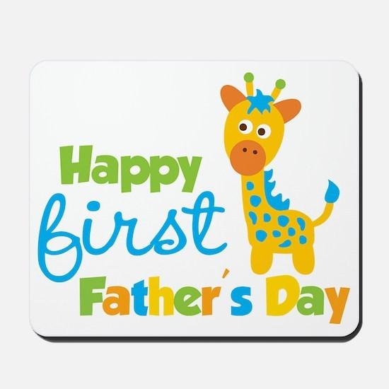 Giraffe 1st Fathers Day Mousepad
