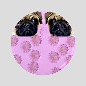"""Pug Dog 3.5"""" Button"""
