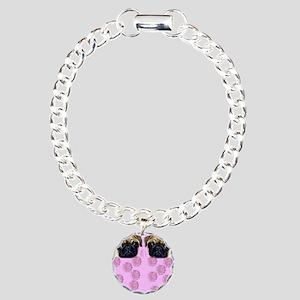 Pug Dog Charm Bracelet, One Charm
