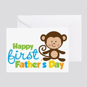 MonkeyBoy1stFathersDay Greeting Card