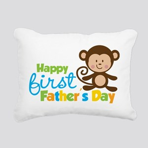 MonkeyBoy1stFathersDay Rectangular Canvas Pillow