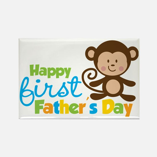 MonkeyBoy1stFathersDay Rectangle Magnet