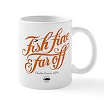 'Fish Fine' Mug - Orange