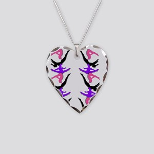 Trampoline Gymnast Necklace Heart Charm