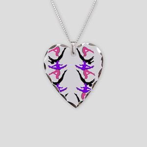 Trampoline Gymnast Necklace Heart Charm