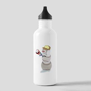 Baseball Snowman Christmas Stainless Water Bottle
