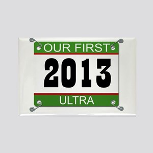 Our First Ultra Bib - 2013 Rectangle Magnet
