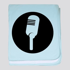 Black Microphone Icon baby blanket