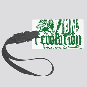 Zion Revolution Power green Large Luggage Tag
