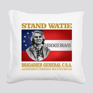 Stand Watie Square Canvas Pillow