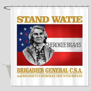 Stand Watie Shower Curtain