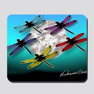 Dragonfly Night moon Mousepad