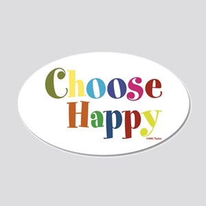 Choose Happy 01 20x12 Oval Wall Decal