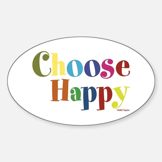 Choose Happy 01 Sticker (Oval)
