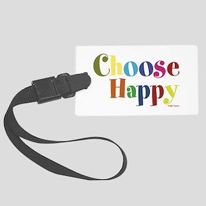 Choose Happy 01 Large Luggage Tag