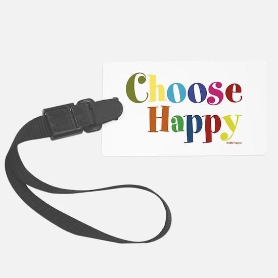 Choose Happy 01 Luggage Tag