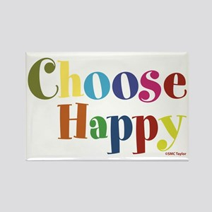 Choose Happy 01 Rectangle Magnet