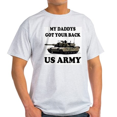 My Daddys Got Your Back Army Tank Light T-Shirt