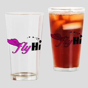 Pink Classic Logo Apparel Drinking Glass